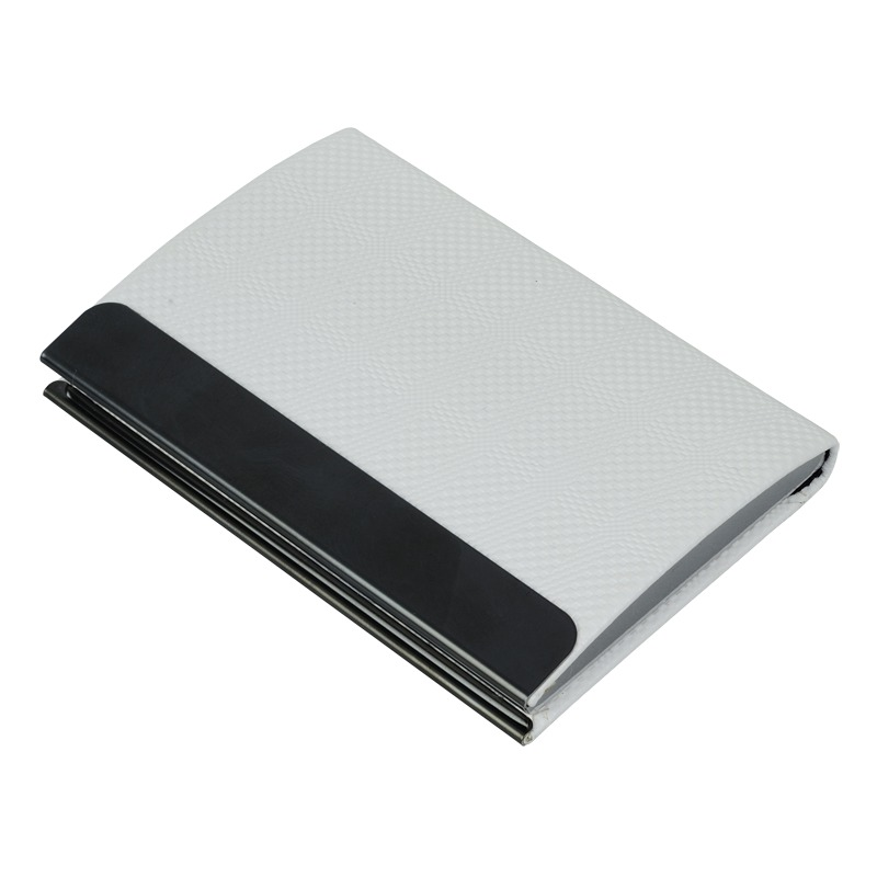 Emboss business card holder, white photo