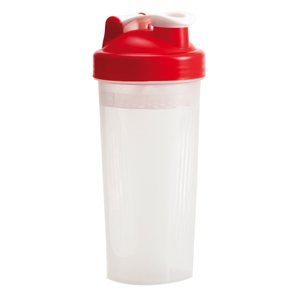 600 ml Muscle Up shaker, red/colorless photo